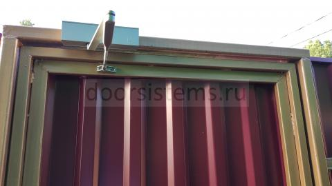 dormakaba TS Profil - пример установки на калитке частного дома